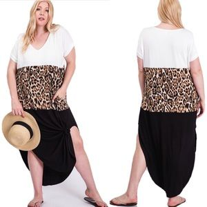 Restocked✨ NEW Boutique Cheetah Color Block Dress